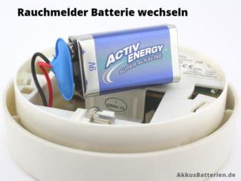 Batterie des Rauchmelders wechseln