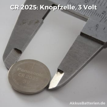 CR 2025 Knopfzelle