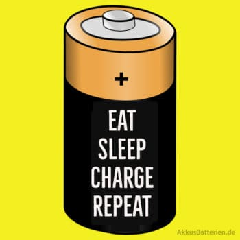 Akku leer Spruch: Eat, Sleep, Charge, Repeat
