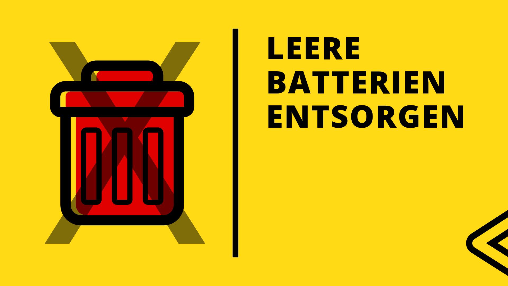 Leere Batterien entsorgen