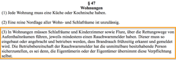 § 47 Abs. 3 der Bauordnung des Landes Nordrhein-Westfalen (BauO NRW)