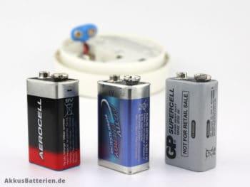9 Volt Block-Batterien für Rauchmelder