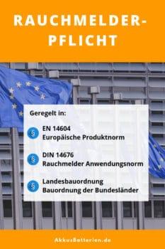 Rauchmelderpflicht in Deutschland, nach EN 14604, DIN 14676, Landesbauordnungen