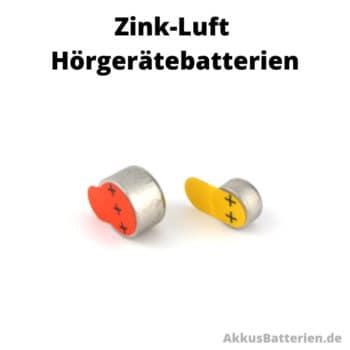 Zink-Luft Hörgerätebatterien mit Schutzfolie, Größe 10 und 13